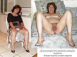 rosemary 63 year old sexy granny clothed and naked