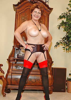 Horny grannies in stockings 10