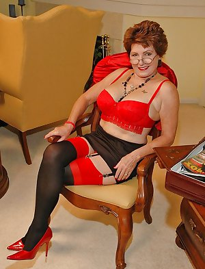Horny grannies in stockings 10
