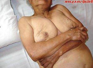 Old granny has saggy tits suck dick hard