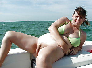 BBW matures and grannies at the beach 218