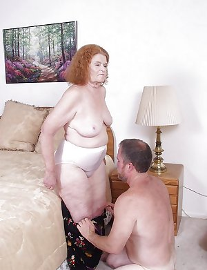 Redhead granny with the new lover
