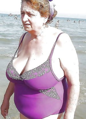 Grandma in a bikini . look