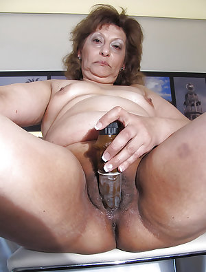 Older women play with toys.