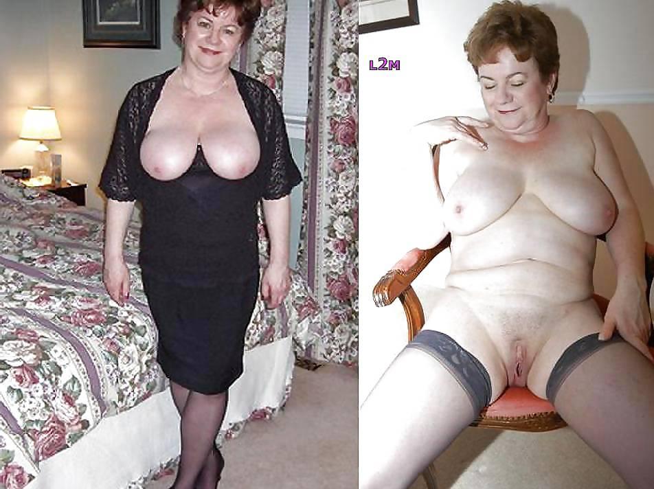 Dressed undressed granny